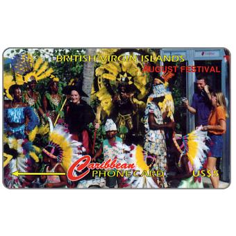 The Phonecard Shop: August Festival, Spanish text, 143CBVG, US$5