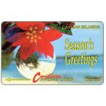 The Phonecard Shop: Cayman Islands, Season's Greetings 92, 4CCIA, CI$7.50