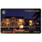 The Phonecard Shop: Cayman Islands, Museum at night, 6CCIC, control on white square, CI$7.50