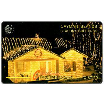 The Phonecard Shop: Cayman Islands, Season's Greetings 93, 7CCIA, CI$7.50
