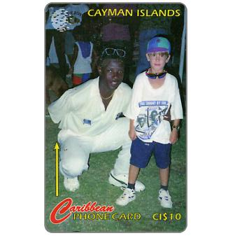 Young fan & Richie Richardson, 57CC1C, CI$10