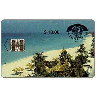 Phonecard for sale: First issue, Intertel, Playa de Varadero, $10