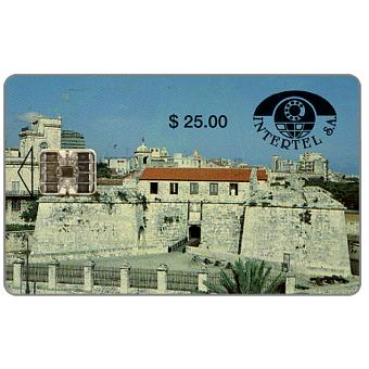 Phonecard for sale: First issue, Intertel, Castillo de la Real Fuerza, $25
