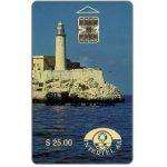 The Phonecard Shop: Cuba, First issue, Intertel, Castillo de El Morro, $25