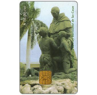 Phonecard for sale: Etecsa, Sculpture of F.B. De Las Casas, $10