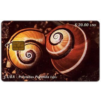 Phonecard for sale: Etecsa, Polymitas Polymita, $ 20