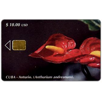 Phonecard for sale: Etecsa, Anthurium andreanum, $ 10