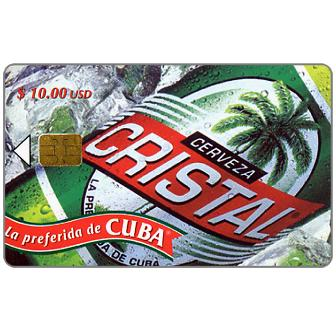 Phonecard for sale: Etecsa, Cristal Beer, $ 10