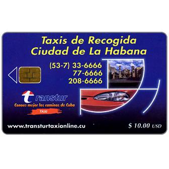 Phonecard for sale: Etecsa, Transtur, Taxis de Recogida, $ 10