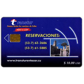 Phonecard for sale: Etecsa, Transtur, Reservaciones, $ 10