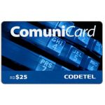 The Phonecard Shop: Codetel ComuniCard - Keypad, dark blue, RD$25