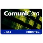 The Phonecard Shop: Codetel ComuniCard - Keypad, dark yellow, RD$45