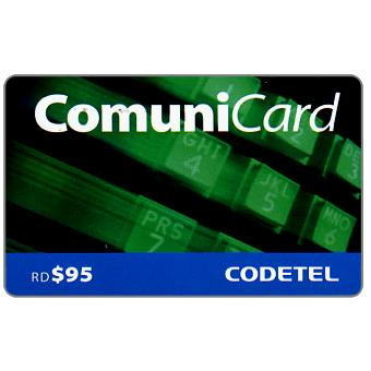 Phonecard for sale: Codetel ComuniCard - Keypad, green, RD$95