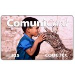 The Phonecard Shop: Codetel ComuniCard - Child with wooden animal, RD$25
