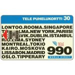 The Phonecard Shop: Finland, Tele - 990 World Direct, 30 mk