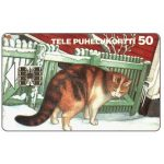 The Phonecard Shop: Tele - Cat in the snow, 50 mk