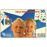 The Phonecard Shop: Finland, Tele - Nuori Suomi, boy and girl, 30 mk