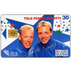 The Phonecard Shop: Finland, Tele - Nuori Suomi, skiers, 30 mk
