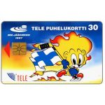 The Phonecard Shop: Tele - Hockey mascot, lion, 30 mk