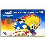 The Phonecard Shop: Finland, Tele - Hockey mascot, lion, 30 mk