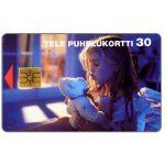 The Phonecard Shop: Finland, Tele - Girl and Teddy Bear, 30 mk