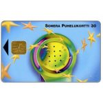 Phonecard for sale: Sonera - Handset & stars, 30 mk