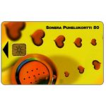 Phonecard for sale: Sonera - Handset & hearts, 50 mk