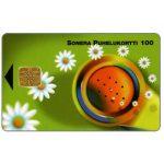 The Phonecard Shop: Finland, Sonera - Handset & daisies, 100 mk