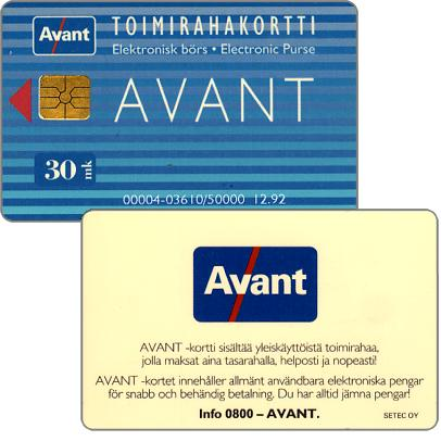 Phonecard for sale: Avant - Toimirahakortti, 12.92, 30 mk
