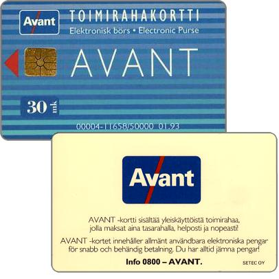 Phonecard for sale: Avant - Toimirahakortti, 01.93, 30 mk