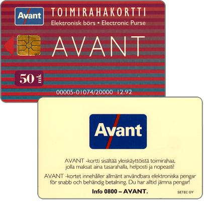 Phonecard for sale: Avant - Toimirahakortti, 12.92, 50 mk