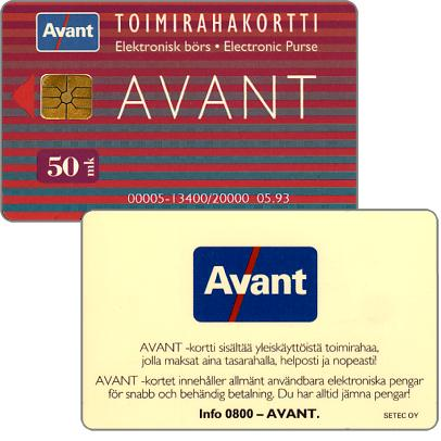Phonecard for sale: Avant - Toimirahakortti, 05.93, 50 mk