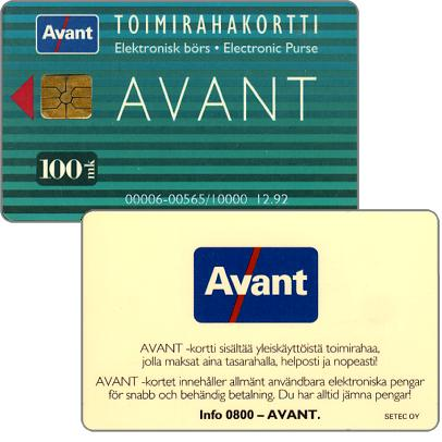 Phonecard for sale: Avant - Toimirahakortti, 12.92, 100 mk