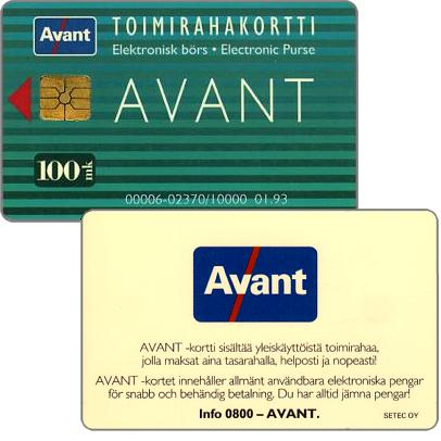 Phonecard for sale: Avant - Toimirahakortti, 01.93, 100 mk