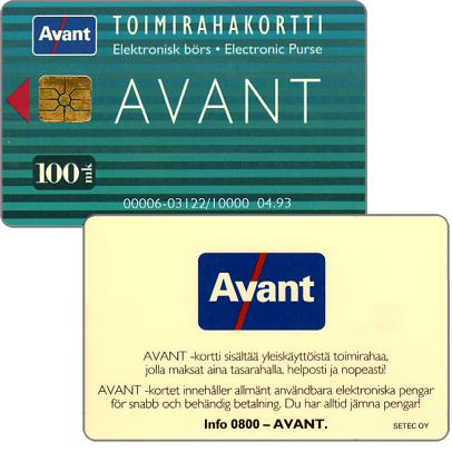 Phonecard for sale: Avant - Toimirahakortti, 04.93, 100 mk