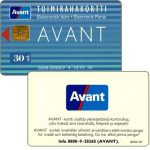 The Phonecard Shop: Finland, Avant - Toimirahakortti, 10.93, 30 mk