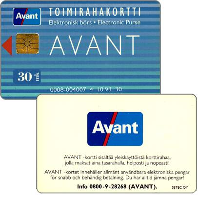 Phonecard for sale: Avant - Toimirahakortti, 10.93, 30 mk