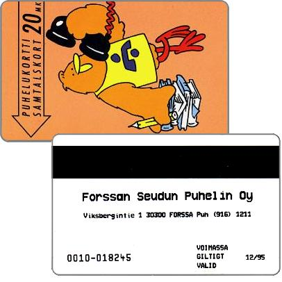 Phonecard for sale: Forssan Seudun Puhelin Oy - Student Buzzby, exp. 12/95, 20 mk