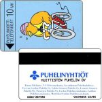 Phonecard for sale: Huittisten Puhelin Oy - Biking Buzzby, exp. 12/95, 10 mk