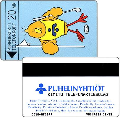 Phonecard for sale: Kimito Telefonaktiebolag - Golfer Buzzby, exp. 12/95, 20 mk