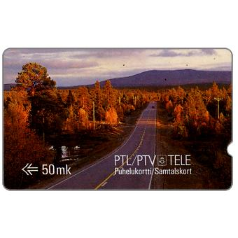 Tele - First GPT series, Scene from Finnish Lappland, deep notch, 1FINC, 50 mk