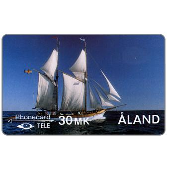 Phonecard for sale: Tele - First Alands issue, The Galley Albanus, 2FINC, 30mk