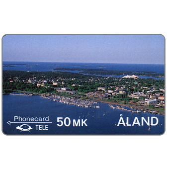 Tele - First Alands issue, Harbour of Mariehamn, 2FIND, 50 mk