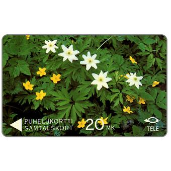 Tele - Wood Anemones and Yellow Anemones, 6FINA, 20 mk