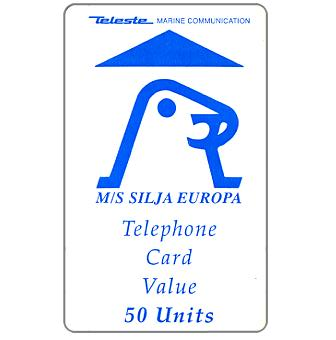 The Phonecard Shop: Teleste - M/S Silja Europa, used only on board of ship 'Europa', 50 units