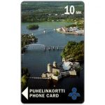 The Phonecard Shop: Savonlinna Telephone Company - Castle from air, 10 mk