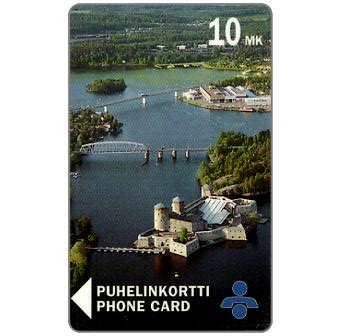 Phonecard for sale: Savonlinna Telephone Company - Castle from air, 10 mk