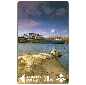 Phonecard for sale: Savonlinna Telephone Company - Ship under the bridge, 20 mk