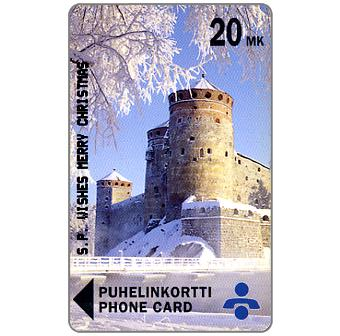 Phonecard for sale: Savonlinna Telephone Company - S.P. Wishes Merry Christmas, 20 mk