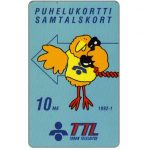 The Phonecard Shop: Turku - First issue, Blue Buzzby, 10 mk
